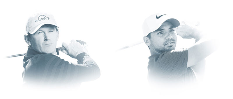 Headshot of Brandt Snedker and Jason Day
