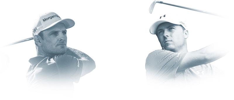 Headshot of Justin Rose and Jordan Spieth